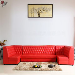 Hotel dining room card seat sofa [sp-ks391] red PU red conventional