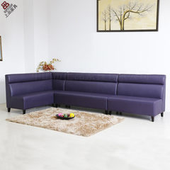 Dining room l-shaped sofa | sp-ks242 | hotel PU le red 4800 * 650 * 1100