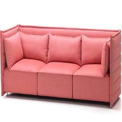 麦古 sofa 简约现代设计师三人位壁龛柱沙发创意布艺沙发