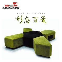 新之直销异形办公沙发 图书馆公共区域等候沙发 来图定制组合沙发