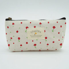 Pen bag writing box rural floral pen bag small fre brown