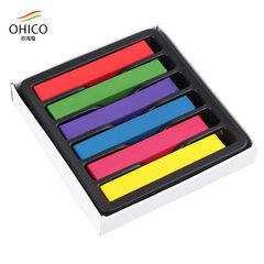 厂家供应6色染发粉笔 彩色染发蜡笔 一次性遮盖白发 现货批发