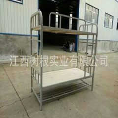 Wholesale upper and lower bunk iron bed staff doub Silver grey 200 * 90 * 175 cm