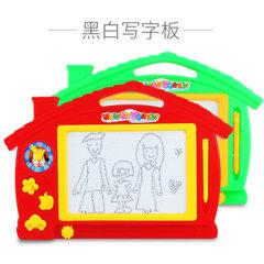 Children`s plastic black and white magnetic writin Black and white version