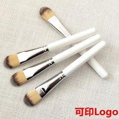 Wooden handle mask brush wet paint blush powder fo Wooden rod make-up brush
