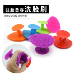 TLZ with suction cup soft silica gel face brush be Candy red