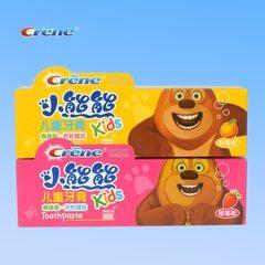 小熊熊儿童牙膏 crene 草莓味50克 厂家批发 儿童防护驻齿牙膏