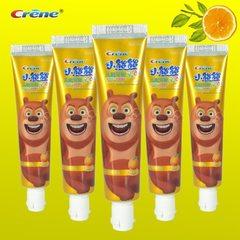 小熊熊儿童牙膏 crene 甜橙味50克 厂家批发 儿童防护驻齿牙膏