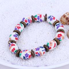 Jingdezhen fashion color flower soft pottery brace Mixed color
