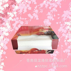 供应广告宣传纸巾 厂家定做 承接大小规格抽纸 ,餐巾纸