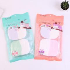 New non-latex oblique - cut egg shape powder puff  65 * 40
