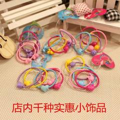 Gold bead hair ring head rope wholesale gift small Color mix hair