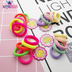 Color high-elastic children`s finger towel ring Ko Fluorescent color