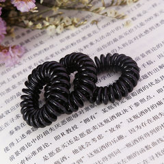 Hot selling black telephone lines hair ring fashio black