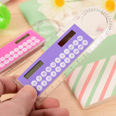 D0622 creative 10 cm ruler calculator mini plastic Color mix (color selection notes)