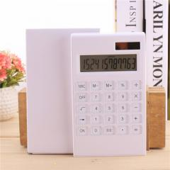 Simple 12-bit crystal calculator high-end solar ca white
