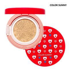 正品color sunny草莓珍珠气垫BB霜粉底液遮瑕轻薄 C21亮肤色
