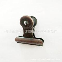 厂家直销 22mm32mm38mm金属圆头票夹 文具夹文件夹可电镀各种颜色 可定