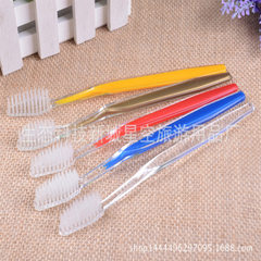Hotel disposable toothbrush wholesale toothbrush h yellow 1234