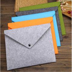 毛毡文件袋 A4纸文件夹 大容量文件收纳袋 档案袋 环保公文夹 灰色