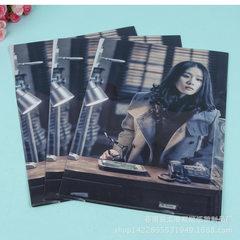 Provide 3D fashionable PP folder cover professiona black