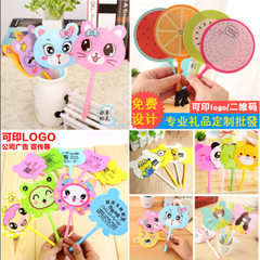 Creative small gift fan pen promotion guide class  Multicolor random mix