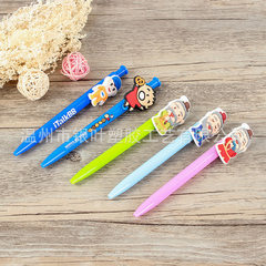 Creative cartoon press ball pen wholesale PVC soft blue
