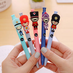 Creative cute pressed ballpoint pen cartoon ballpo Deep blue