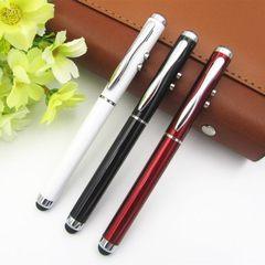新款多功能3合一激光触屏笔金属圆珠笔广告笔手写触控笔厂家直销 子弹型1.0
