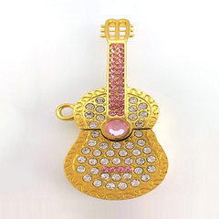Source factory guitar usb flash drive gift usb fla Gold/white powder Consult factory