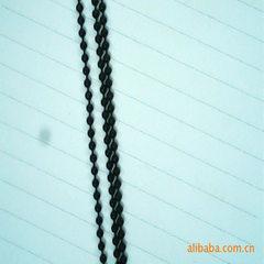 优价供应韩版热销珠链 黑色PU绳 简约男女款项链 黑色