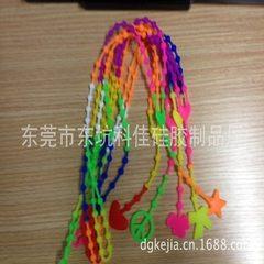 新款硅胶圆珠项链 和平 桃心  星星 四叶草各款式项链 现模供应