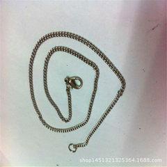 自产自销不锈钢饰品链条 钛钢情侣配链单链 O字项链 十字链