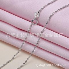 Korean version color necklace S925 copper plated s white