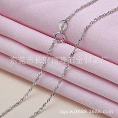 韩版保色项链 S925铜镀纯银水波链 锁骨链 项链批发 白色