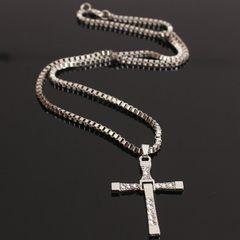 欧美饰品 托雷多速度与激情8吊坠十字架项链 男士项饰 1元礼品 金色
