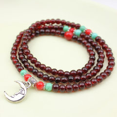 4301 imitation garnet crystal bracelet multiple ri Mix model