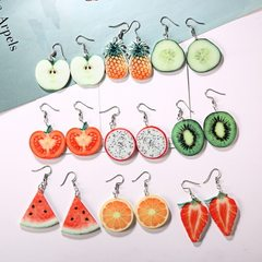 Korean version of fruit earrings creative small fr apple