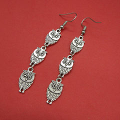 New style popular simple street patting earrings w The ancient silver