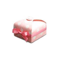 South Korea creative wedding celebration candy box Pink dot 7.5 x7.5 x3.5 cm with ribbon
