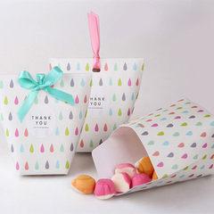 Han edition of creative gift box Wedding and joyfu Black dots (with ribbon only)