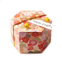 Korean hexagonal paper creative sugar box customiz 7.5x7.5x5.5cm light pink clubs