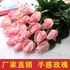 Emulation flower manufacturer wholesales the rose  White (60 pieces per color)