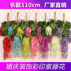 Simulation wisteria string ceiling plastic flowers The big red