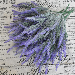 Emulated planting hair lavender flower bouquet wed Purple (kiliang)
