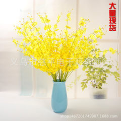 Simulation dancing orchid yellow people fake flowe yellow
