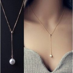 Korean version of the clavicle adjustable necklace golden