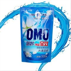 全自动水清莲香净蓝全效洗衣液500g袋装赠品活动跑江湖