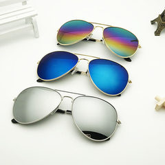 3026 fashion dazzle colorful sunglasses & sun-glas Gold framed blue mercury