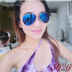 Sunglass 3025 is the same type of 3026 color film  Golden frame